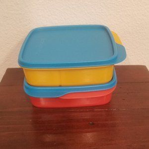 Tupperware Lunch It Container 2-Pc. Set NWOT